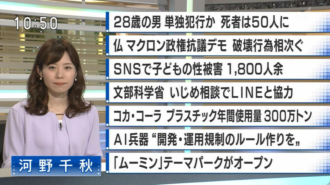 ニュース アナウンサー Bs
