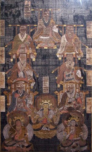 インド中国十高僧連座像