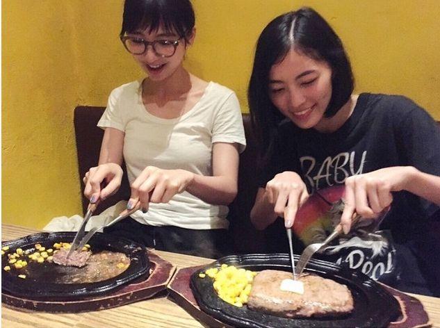 【エンタメ画像】【SKE48】 松井珠理奈が篠田麻里子にステーキをご馳走になるwwww