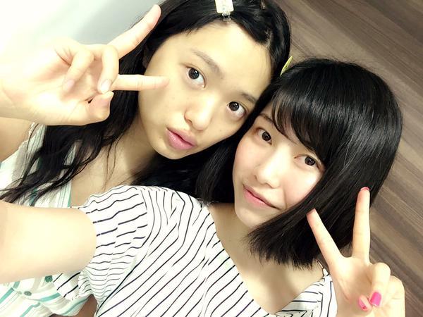 【エンタメ画像】【AKB48】北原里英と横山由依のすっぴんwwwwwww