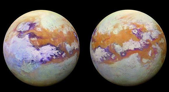 土星の衛星タイタンの謎めいた地表が鮮明に。氷の堆積物や海の存在がわかるNASAが新たに公開したタイタンの写真