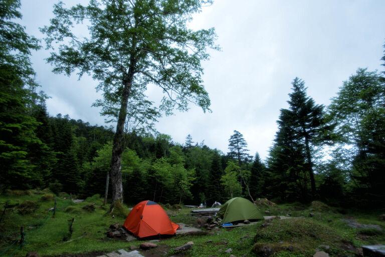 夏の終わりに川でキャンプをしに行った