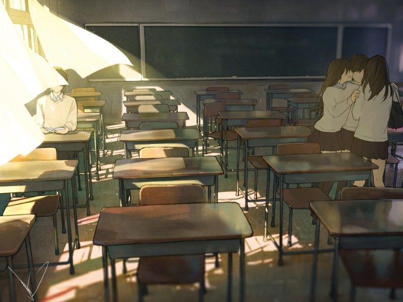 放課後の理科室に一人でいるとね?いつの間にか、背後に、真っ白なワンピースを着た女の子が立ってるんだって。 それでね…