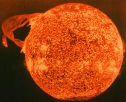 太陽で巨大な爆発を観測
