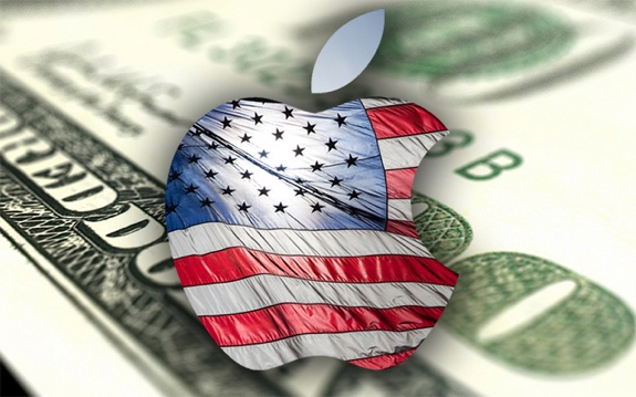 Apple-logo-American-flag-money