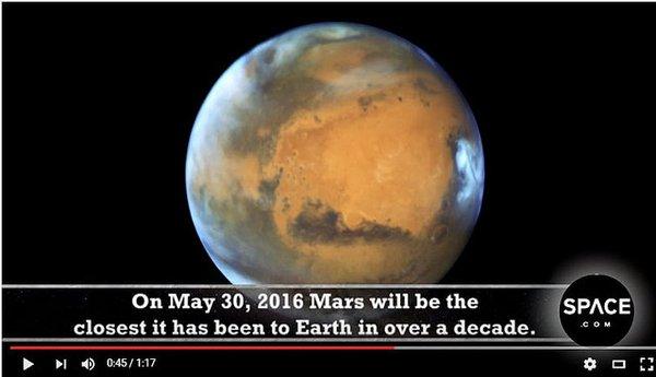 今日は火星が大接近する日!!南の方角の空を見よう!!