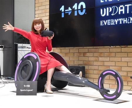 しょこたん「お尻にも汗をかきました」 車いす型VRを体感