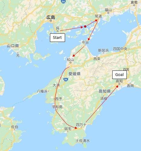 ワイ、7日間で広島→愛媛→高知と旅する part 1