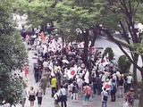 都庁前に600人集合