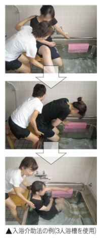 実際の入浴介助例