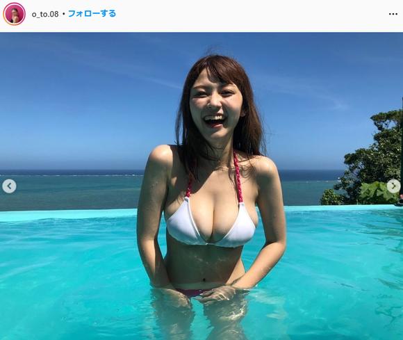 櫻井音乃ヤングマガジン水着グラビア