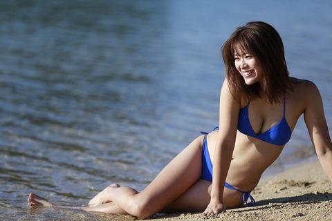 SKE48山内鈴蘭の水着グラビア