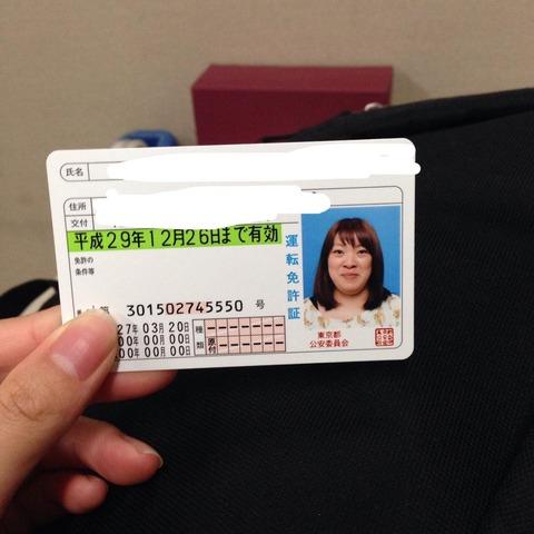 フワちゃん運転免許証