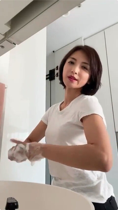 望月理恵の手洗いチャレンジ