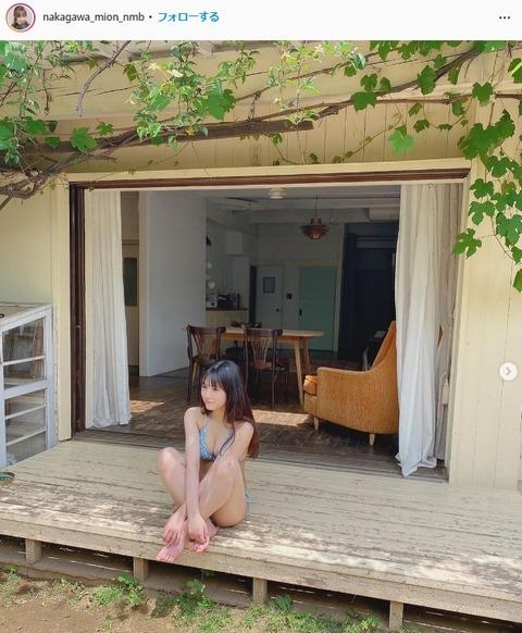 NMB48中川美音週プレ水着グラビア