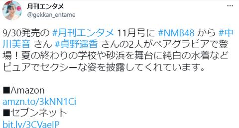 NMB48中川美音スクール水着グラビア