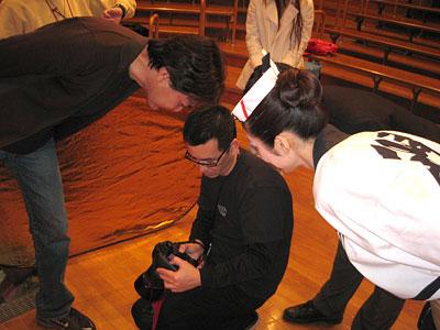 2007年ポスター撮影風景(2)