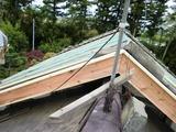 屋根下地完了