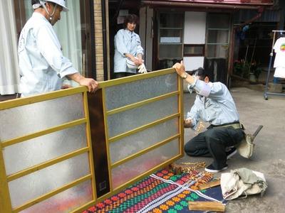 木製建具の調整