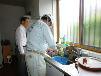 蛇口の掃除パッキン交換