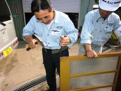 木製建具の調整2