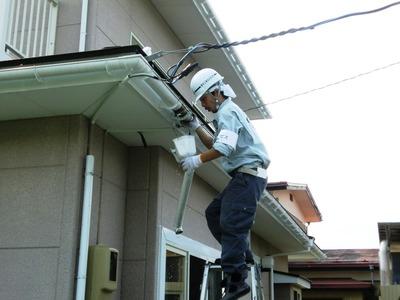 雨樋の点検掃除の実施2