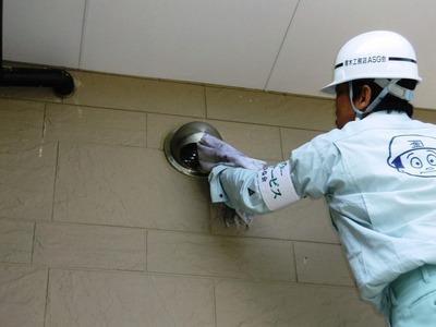 高所の換気扇フード掃除