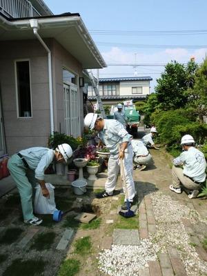 汚水桝の点検掃除2