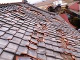 棟瓦が屋根を直撃
