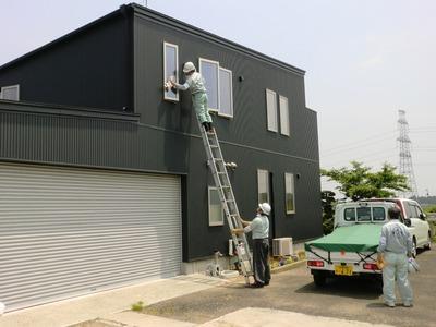 高所の窓拭き掃除2