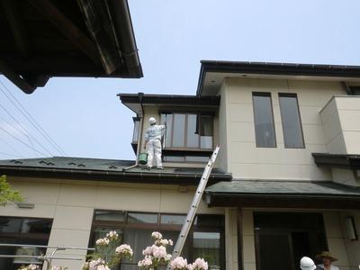高所の窓拭き掃除