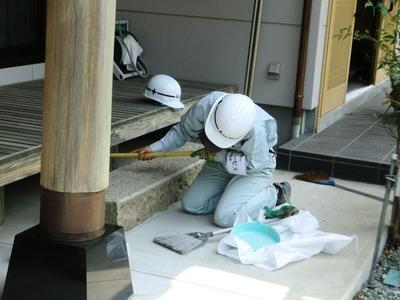 濡縁床下の掃除