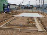 長井市モデルハウス基礎