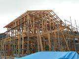 東根市観音寺建て方
