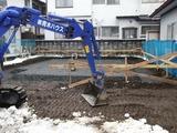 上山美咲町基礎工事写真