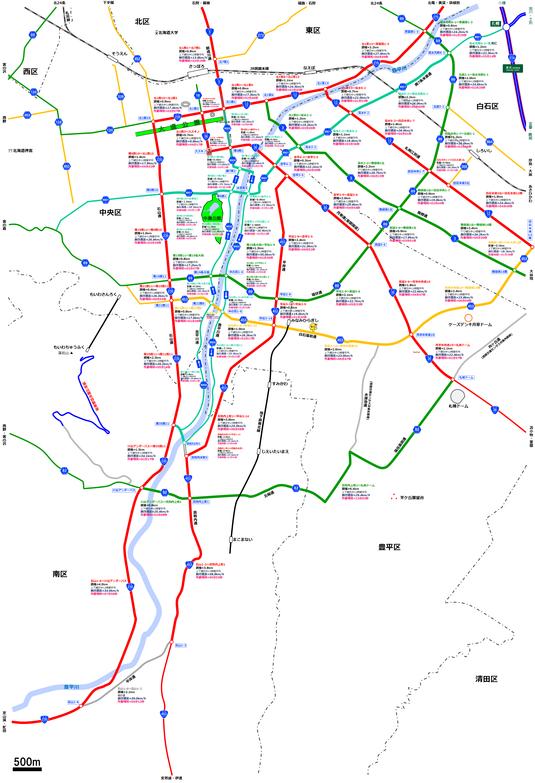 札幌南部道路図