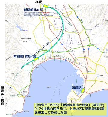 上磯に新函館駅を設置していたら