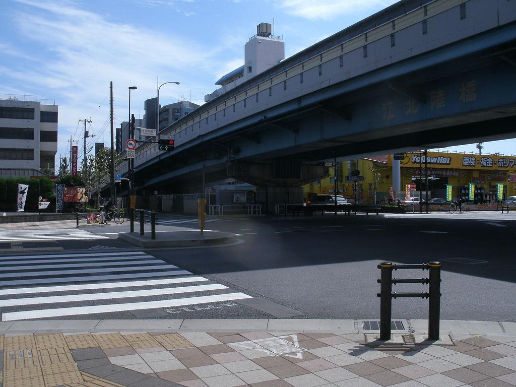 環七通りは尾久橋通りを跨ぐ ...