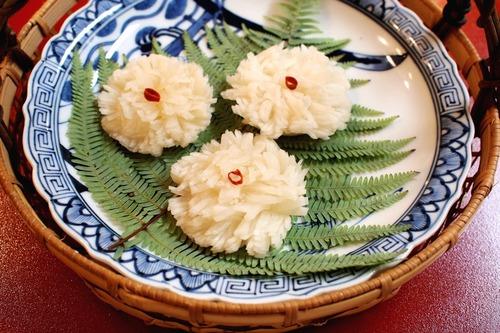 お節料理~菊花かぶ~。