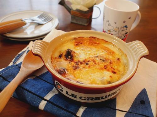 牡蠣と里芋の白みそグラタン。