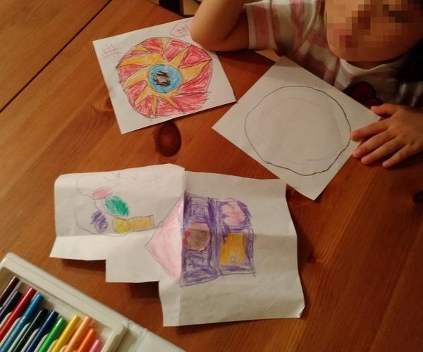 娘、図画工作ブーム。