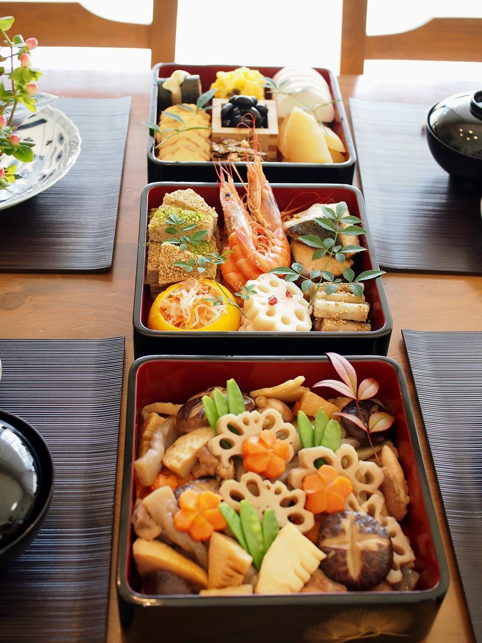 基本のおせち料理レッスン~三段重の料理と詰め方紹介編
