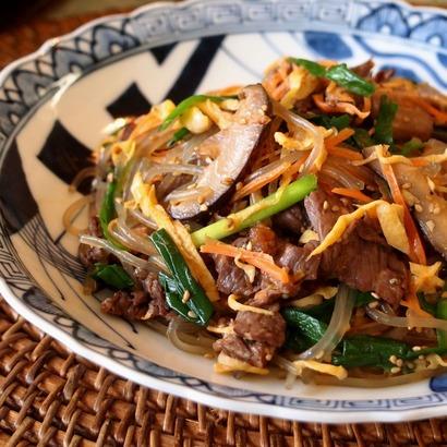 チャプチェ&豆腐とアサリのスンドゥブ風。