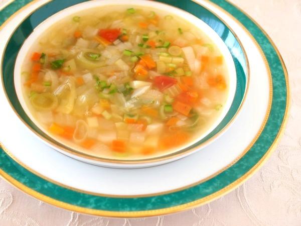 12月「シンプルクリスマスディナー」lessonメニュー「ペイザンヌスープ」画像紹介。