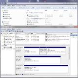 VAIOwin7イメージ作成時のディスク管理画面