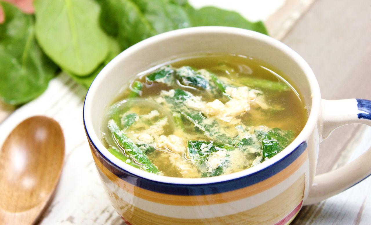 卵 スープ ほうれん草 簡単時短!ほうれん草と卵の鶏がらスープ レシピ・作り方