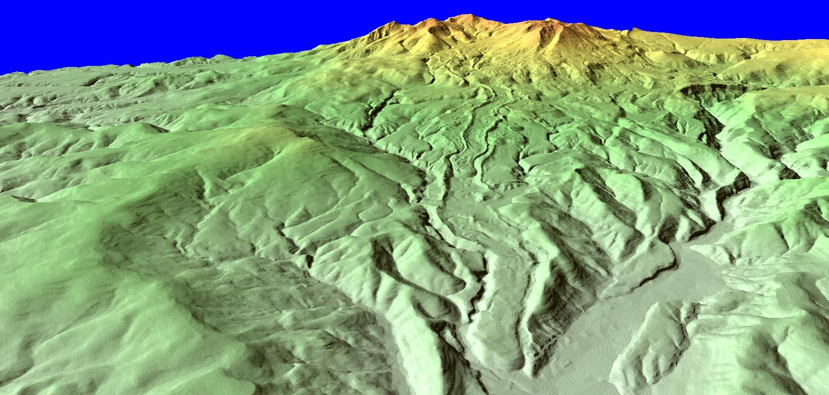 大雪山旭岳の溶岩堤防