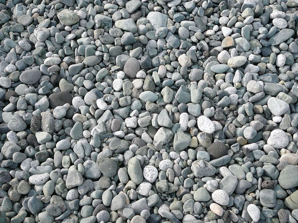 小田原海岸の砂利