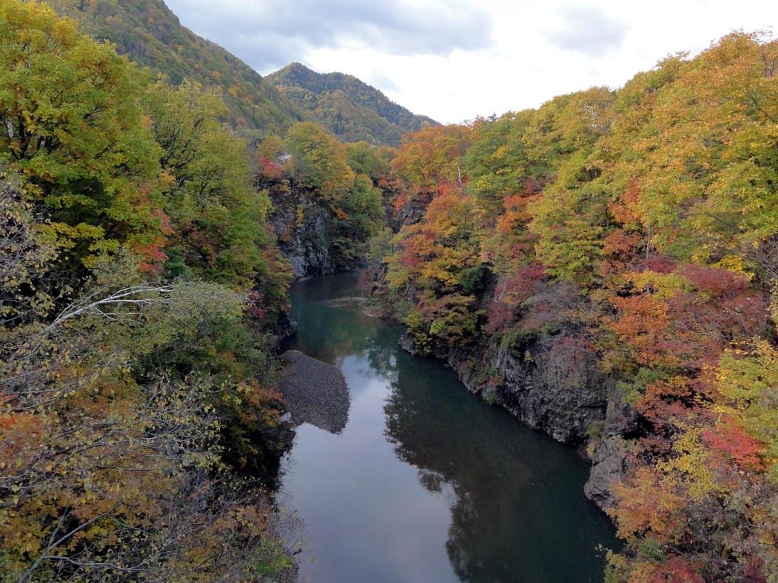 定山渓の紅葉3