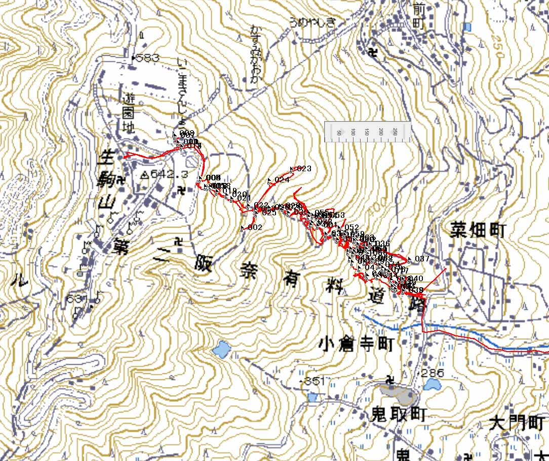 縁があって奈良県の生駒山を踏査する機会がありました。12月始めのことです。